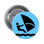 Windsurf el botón del símbolo pins
