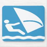 Windsurf el símbolo Mousepad Alfombrilla De Ratones