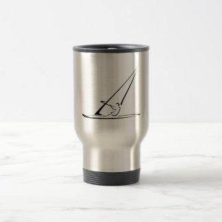 Windsurf enhanced black outline travel mug
