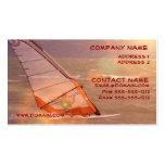 Windsurf la tarjeta de visita del diseño