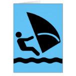 Windsurf la tarjeta del símbolo