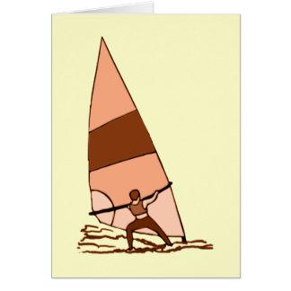 Windsurf Warm Colors Card