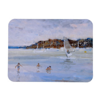 Windsurfer and Bathers Magnet