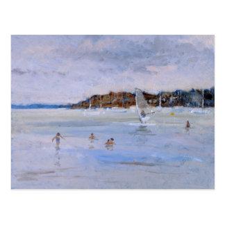 Windsurfer and Bathers Postcard