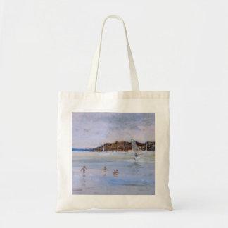 Windsurfer and Bathers Tote Bag