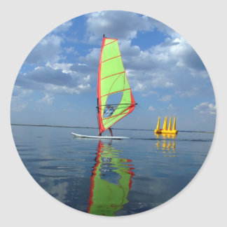Windsurfer Classic Round Sticker