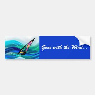 Windsurfer del tecnicolor etiqueta de parachoque
