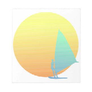 Windsurfer del verano bloc de papel