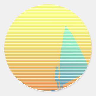 Windsurfer del verano pegatina redonda