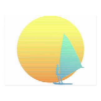 Windsurfer del verano tarjeta postal