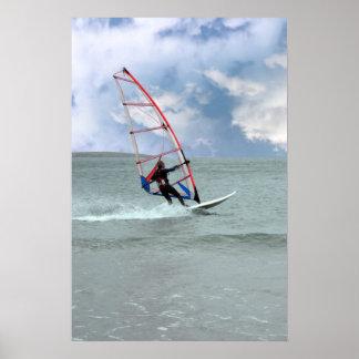 windsurfer en una tormenta impresiones