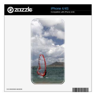 Windsurfer in Hawaii Skin iPhone iPhone 4S Decal