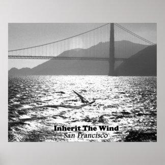 Windsurfer on San Francisco Bay Posters