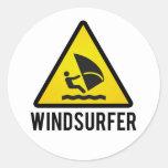 Windsurfer Runder Aufkleber