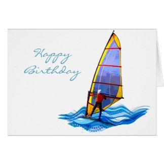 Windsurfer salvaje tarjeta de felicitación