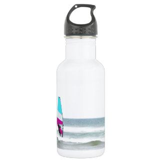 Windsurfer with Aqua and Pink Water Bottle
