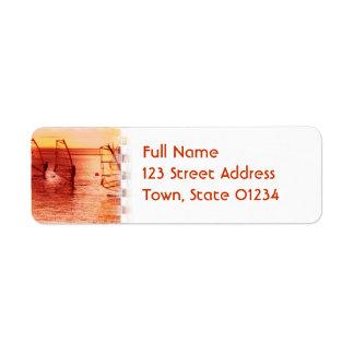 Windsurfers on Horizon Mailing Label