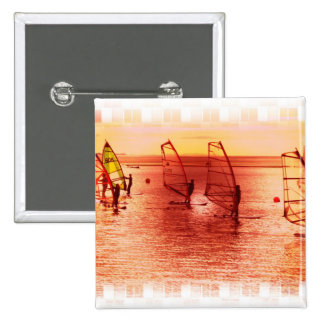 Windsurfers on Horizon Pin