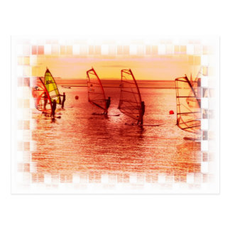 Windsurfers on Horizon Postcard