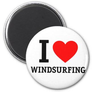 Windsurfing 2 Inch Round Magnet
