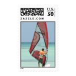 Windsurfing Aruba Postage Stamp