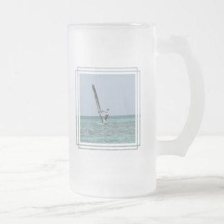 Windsurfing Basics Frosted Beer Mug