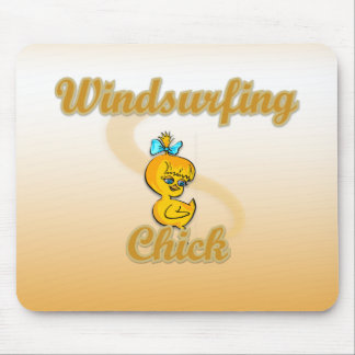 Windsurfing Chick Mouse Pad