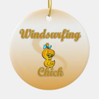 Windsurfing Chick Ornament