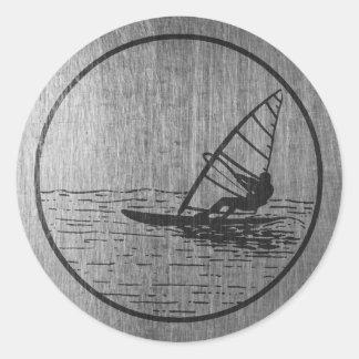 Windsurfing Classic Round Sticker