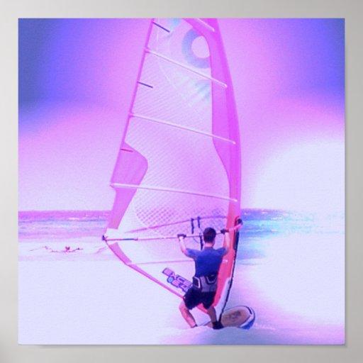 Windsurfing Color Print
