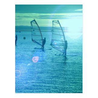 Windsurfing Design Postcard