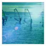Windsurfing Design Poster