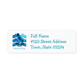 Windsurfing Design Return Address Label