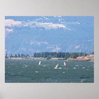 Windsurfing el poster de la garganta