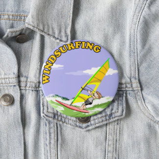 Windsurfing enchants to me pinback button