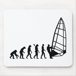Windsurfing evolution mouse pad