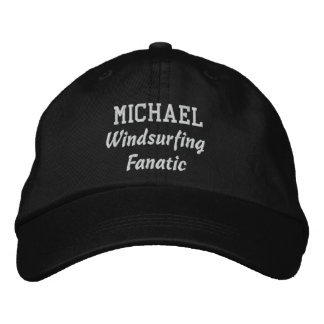Windsurfing Fanatic Custom Name V08D Embroidered Hat