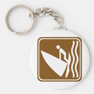 Windsurfing Highway Sign Keychain