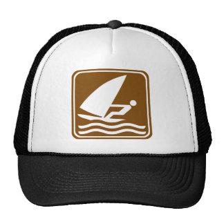 Windsurfing Highway Sign Trucker Hat