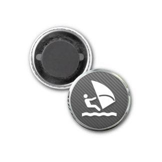 Windsurfing Icon 1 Inch Round Magnet