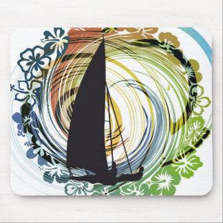 Windsurfing illustration mouse pad