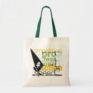 Windsurfing illustration tote bag