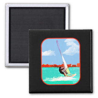 Windsurfing in the Harbor Magnet