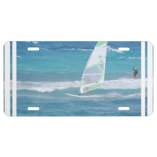 Windsurfing in the Tropics License Plate