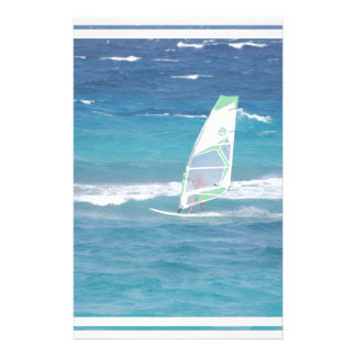 Windsurfing in the Tropics Customized Stationery