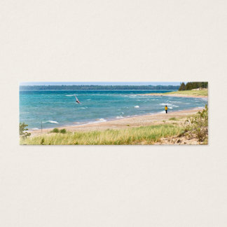 Windsurfing on Lake Michigan Mini Business Card