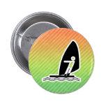 Windsurfing Pinback Buttons