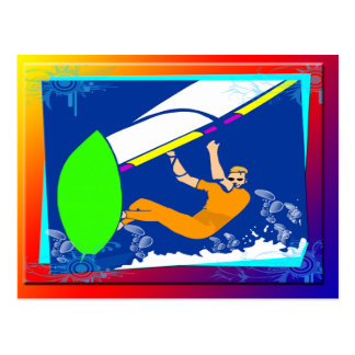 Windsurfing Postcard