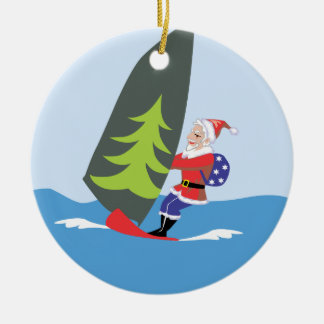 Windsurfing Santa Ornament