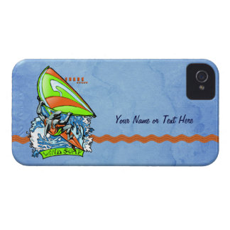 Windsurfing Shark Attack iPhone-Barely There Case-Mate iPhone 4 Case